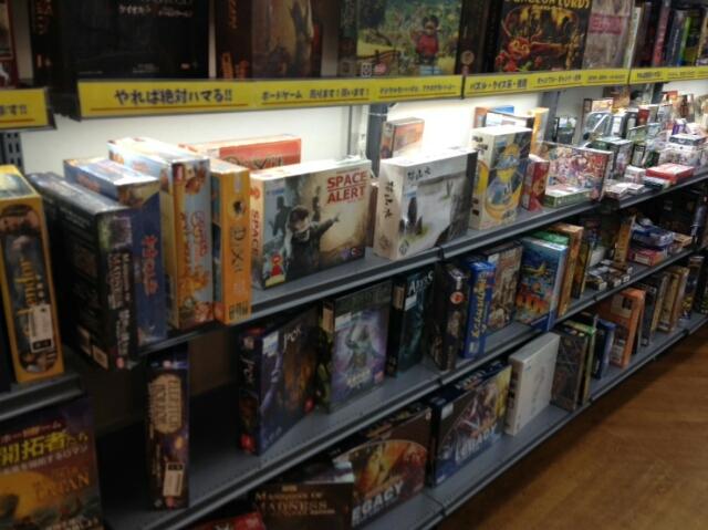 駿河屋高槻店のボードゲームコーナー